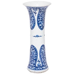 19th Century Chinese Blue and White Gu Vase