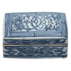 19th Century Chinese Blue and White Ink Box