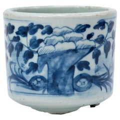 19th Century Chinese Blue and White Offering Censer