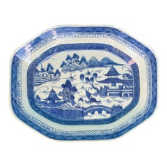 19th Century Chinese Blue and White Porcelain Charger