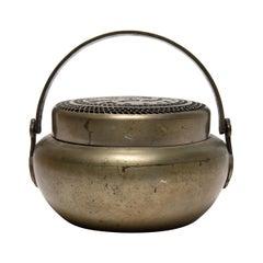 19th Century Chinese Brass Phoenix Brazier