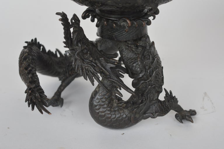 19th Century Chinese Bronze Ensensor Dragons For Sale 3