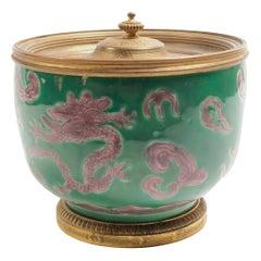 19th Century Chinese Bronze Mounted Bowl