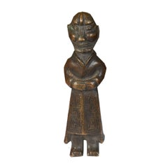 """19th Century Chinese Bronze """"Wise Elder"""" Pocket Charm"""
