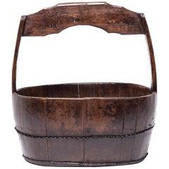 19th Century Chinese Burden Bucket