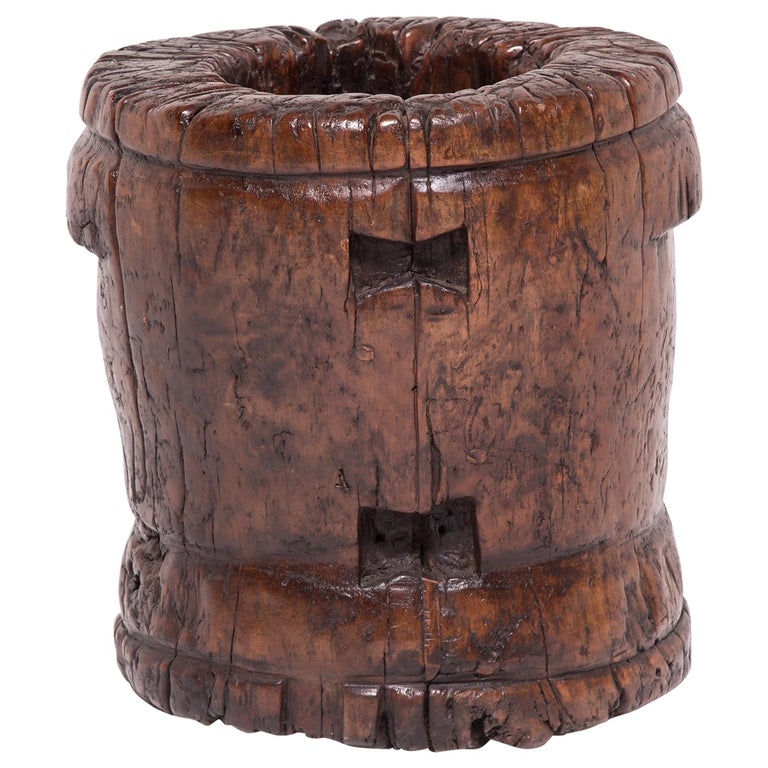19th Century Chinese Butterfly Mortar For Sale