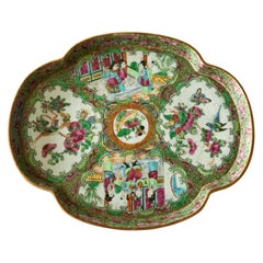 19th Century Chinese Canton Famille Rose Medallion Dish/Tray