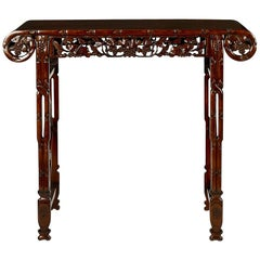 19th Century Chinese Carved Alter Table
