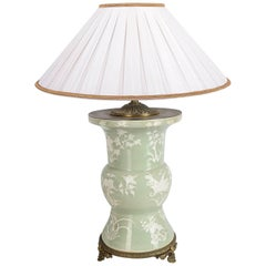 19th Century Chinese Celadon Lave or Lamp