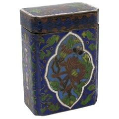 19th Century Chinese Cloisonné Enamel Brass Trinket Box