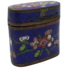 19th Century Chinese Cloisonné Enamel Brass Trinket Box
