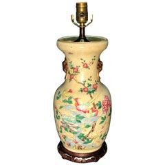 19th Century Chinese Crackleware Vase as Lamp