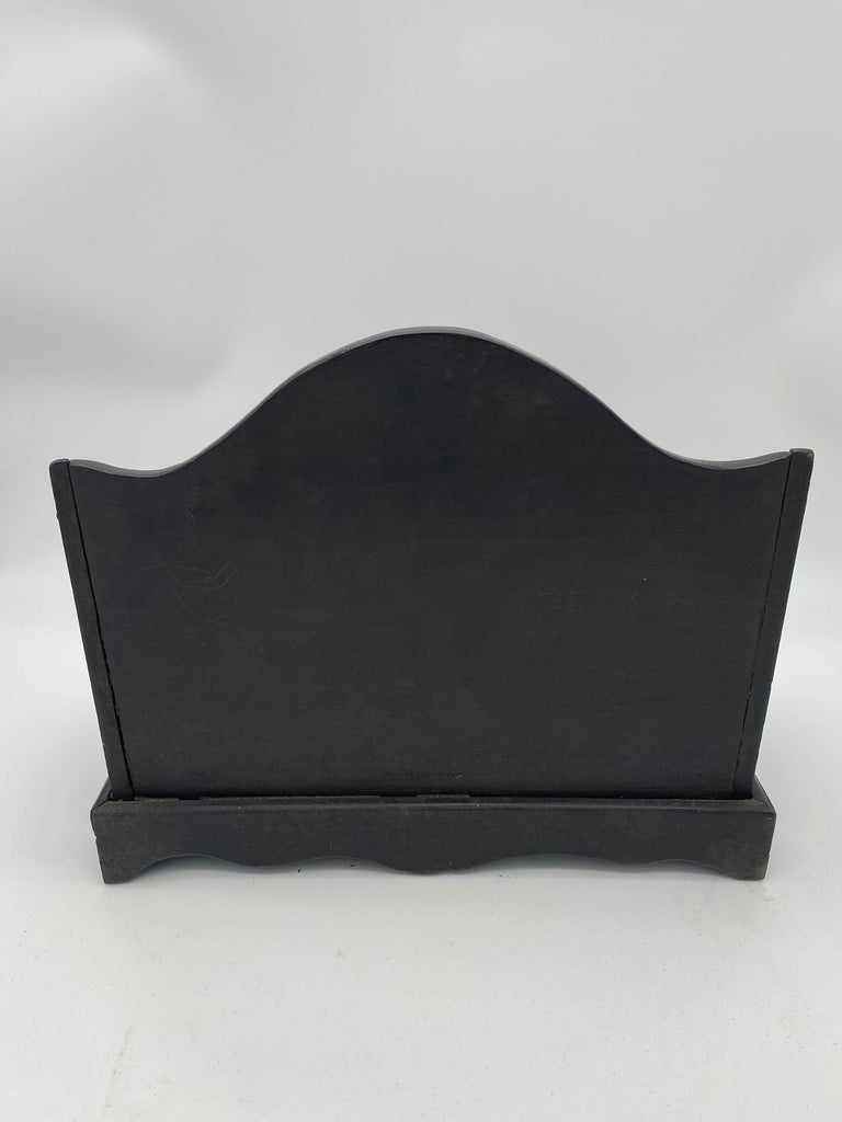 19th Century Chinese Ebonized Letter Rack with Mother of Pearl For Sale 2