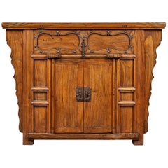 19th Century Chinese Elm Altar Cabinet