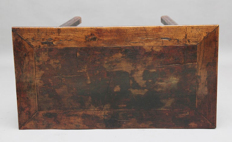 19th Century Chinese Elm Side Table For Sale 2
