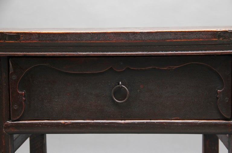 19th Century Chinese Elm Side Table For Sale 5