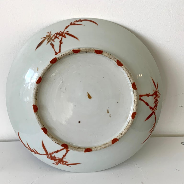 19th Century Chinese Export Powder Blue Ho Ho Bird Motif Charger For Sale 7