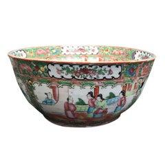 19. Jahrhunderts exportieren chinesische Rose Medaillon-Bowle