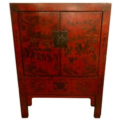 19th Century Chinese Export Two-Door Commode or Cabinet