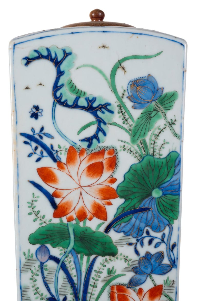 19th Century Chinese Famille Verte Vase or Lamp, circa 1880 For Sale 1