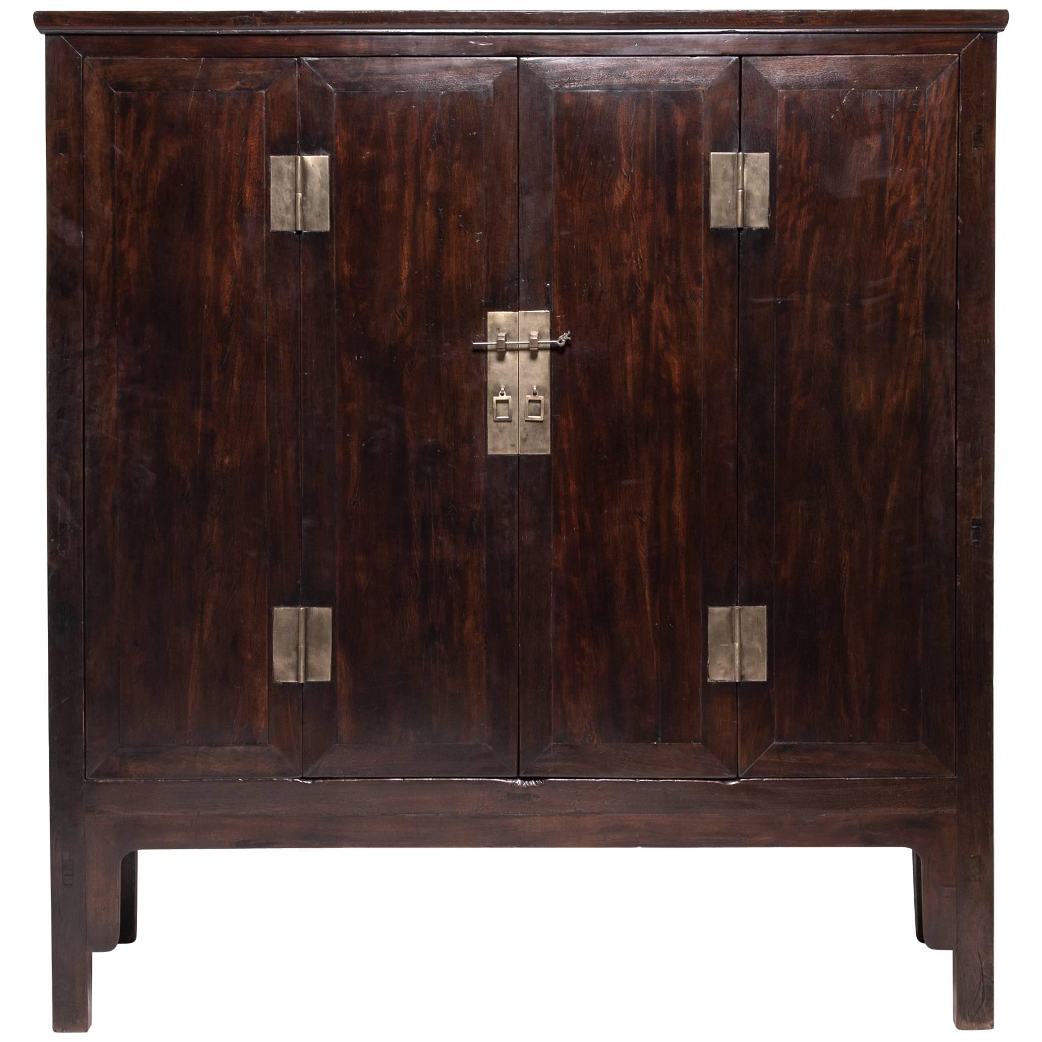 Chinese Fine Ironwood Cabinet, c. 1850