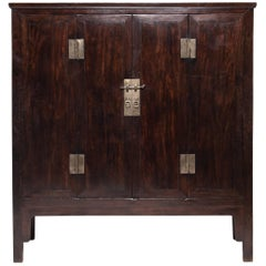 Chinese Fine Ironwood Cabinet, c. 1850