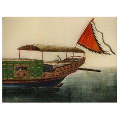 19th Century Chinese Folio Gouache Rice Paper Paintings