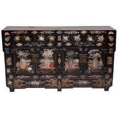19th Century Chinese Folk Painted Sideboard