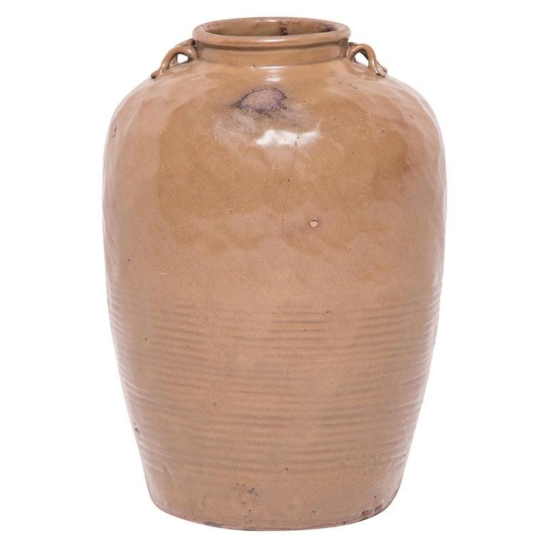 19th Century Chinese Glazed Stoneware Jar For Sale