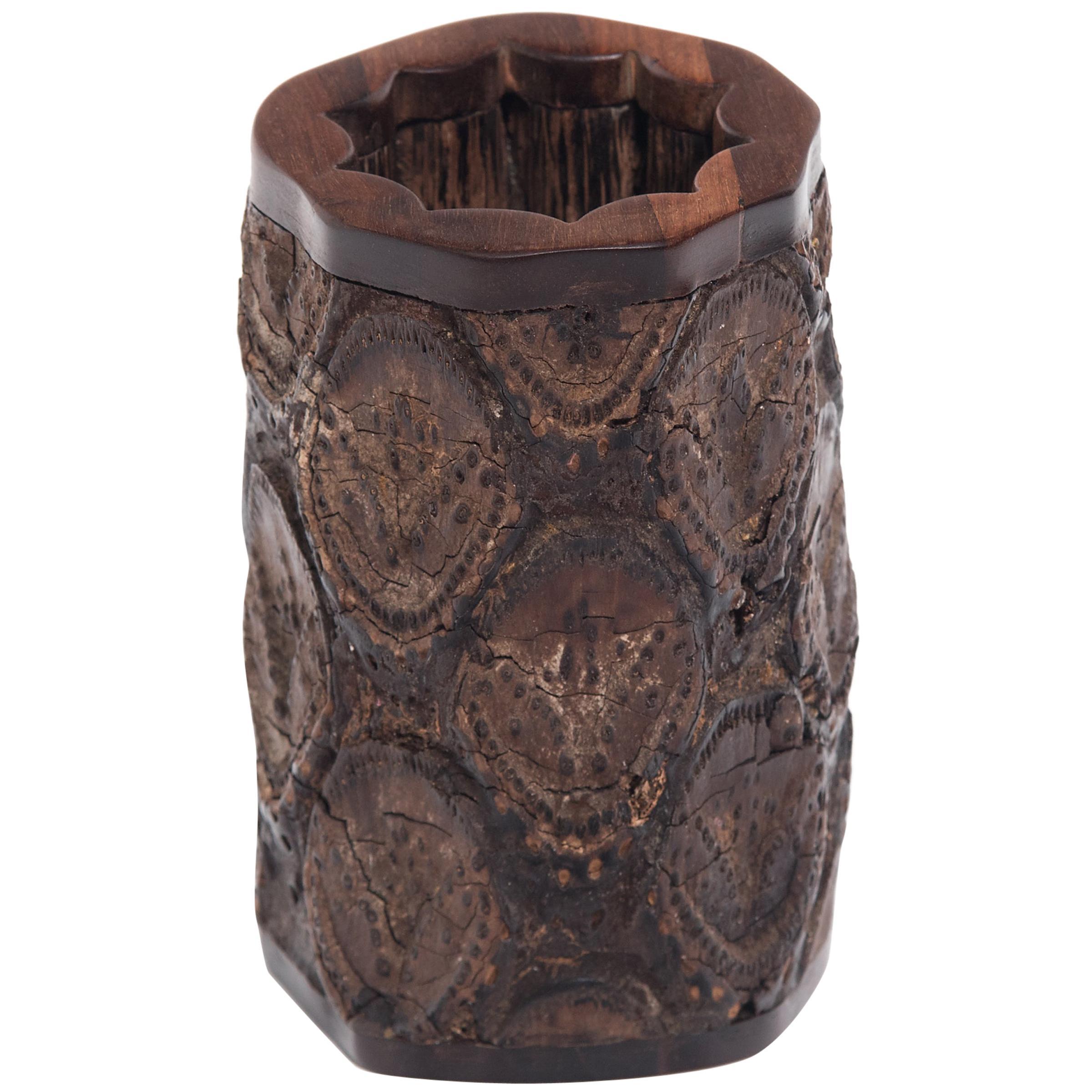 19th Century Chinese Gnarled Brush Pot