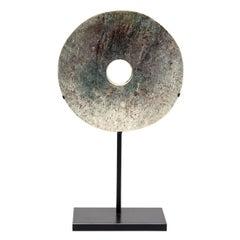19th Century Chinese Hardstone Bi Disc