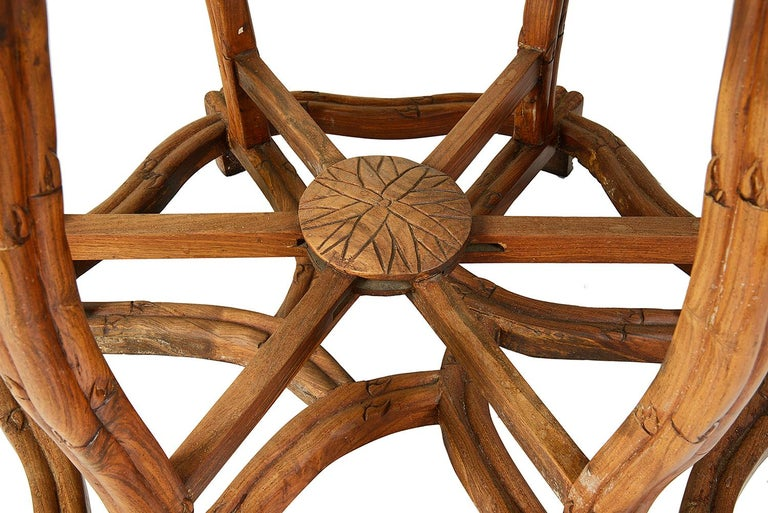Hand-Carved 19th Century Chinese Hardwood Centre Table For Sale