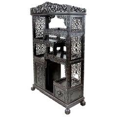 19th Century Chinese Hardwood Floor Standing Shelves