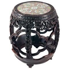 19th Century Chinese Hardwood Garden Seat
