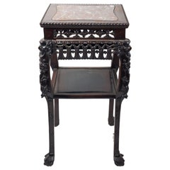 19th Century Chinese Hardwood Stand, circa 1880