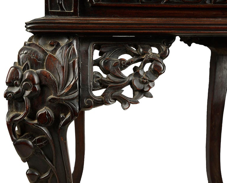 19th Century Chinese Hardwood Writing Desk For Sale 5