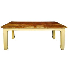 20th Century Chinese Hide Covered Table