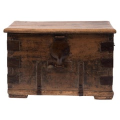19th Century Chinese Iron Clad Keeper's Chest