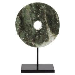 19th Century Chinese Jade Bi Disc