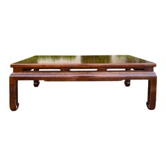 19th Century Chinese Kang Style Red Chinoiserie Coffee Table