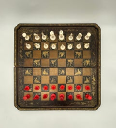 19th Century Chinese Lacquer Gaming Board