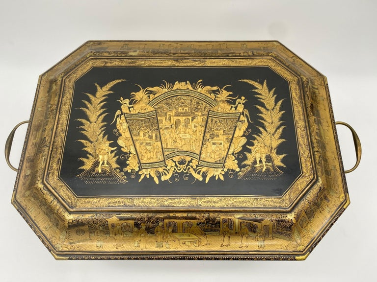 19th Century Chinese Lacquer Sewing Box For Sale 1
