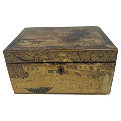19th Century Chinese Lacquer Tea Caddy
