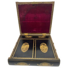 19th Century Chinese Lacquer Writing Box
