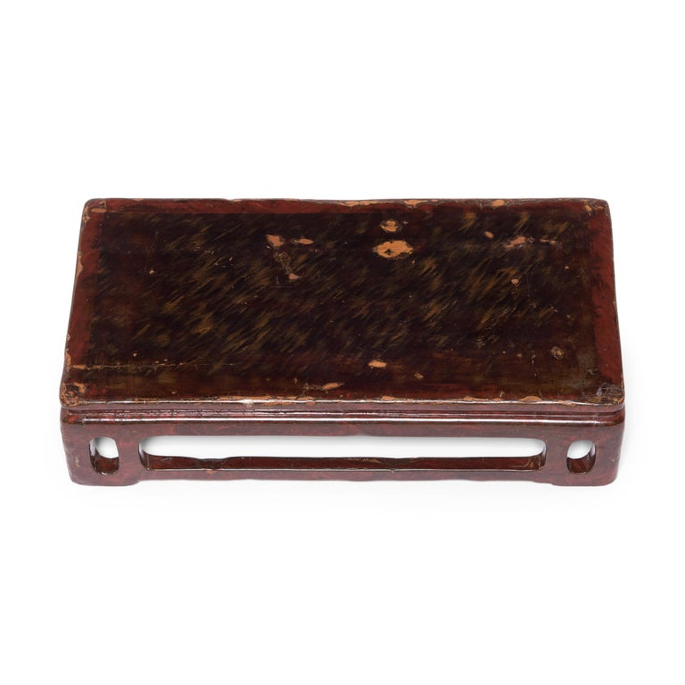 Wood 19th Century Chinese Lacquered Display Stand For Sale