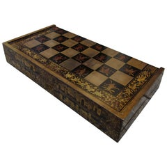 19th Century Chinese Lacquered Inlaid Game Box
