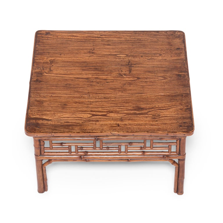 19th Century Chinese Low Bamboo Table For Sale 1
