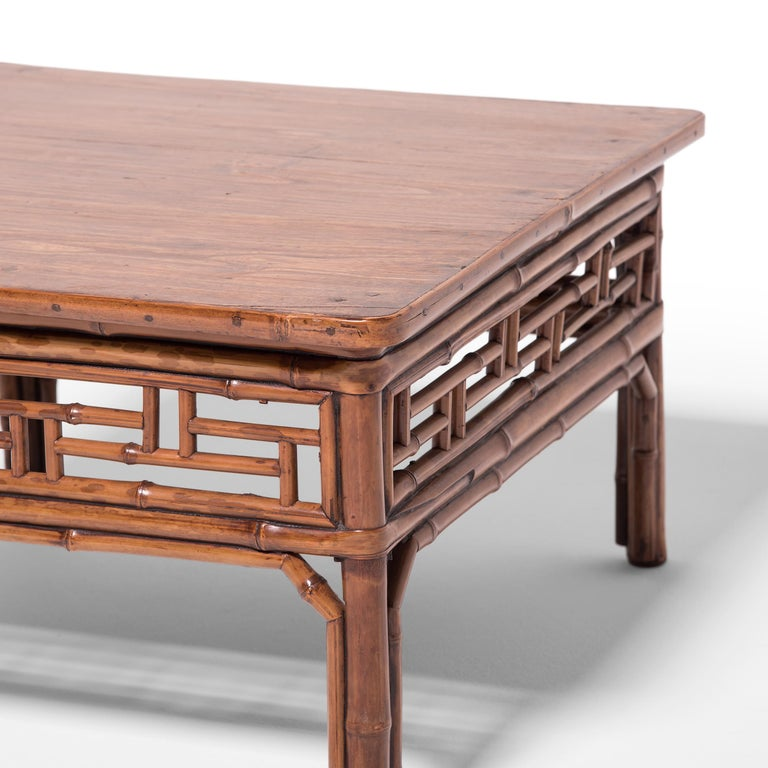 19th Century Chinese Low Bamboo Table For Sale 2