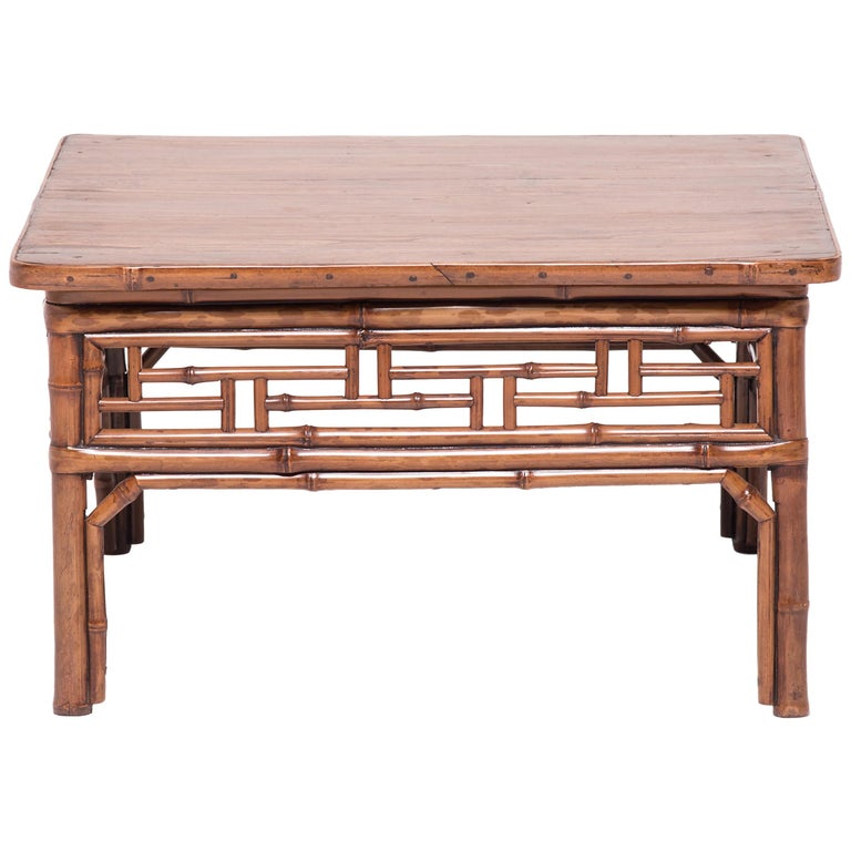 19th Century Chinese Low Bamboo Table For Sale