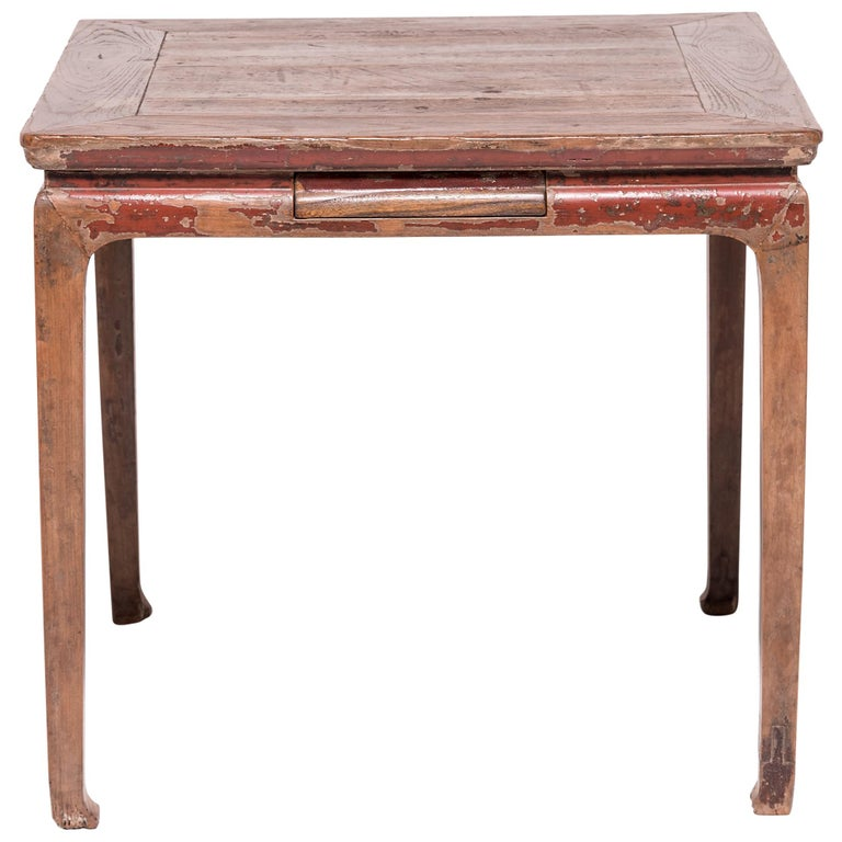 19th Century Chinese Mahjong Table with Drawers For Sale